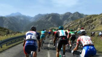 Mountains landscapes sports cycling races cycles wallpaper