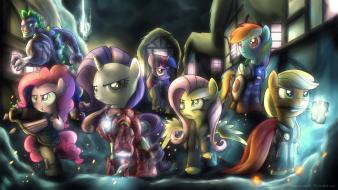 My little pony ponies avengers wallpaper