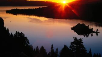 Nature california lake tahoe emerald bay normal Wallpaper