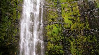 Nature hawaii usa waterfalls haleakala national park Wallpaper
