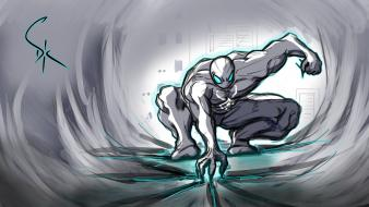 Neon frost avengers black spiderman muscle power wallpaper