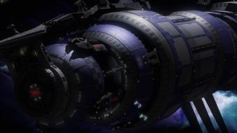 Outer space sci-fi spacecraft wallpaper