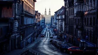 Poland poznan automobile cars cities wallpaper