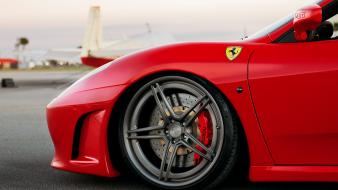 Red cars ferrari horses wheels races wallpaper