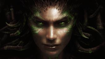 Sarah kerrigan queen blades ii faces portraits wallpaper