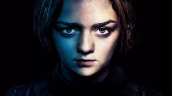 Series arya stark faces maisie williams hbo wallpaper