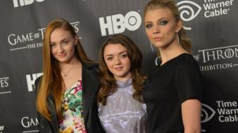 Sophie turner (actress) natalie dormer maisie williams wallpaper