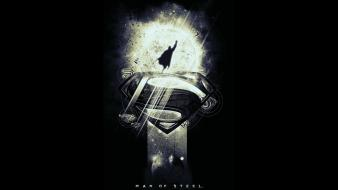 Steel superman black background fan art movies wallpaper