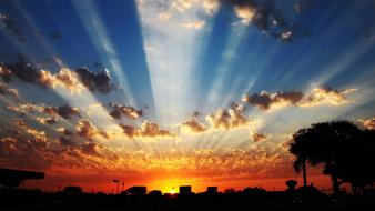 Sun cities clouds skies sunrise wallpaper