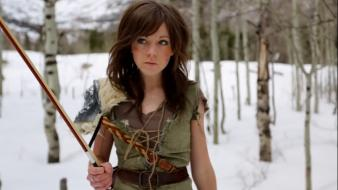 V: skyrim lindsey stirling violinist one peter wallpaper