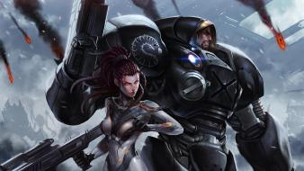 Video games starcraft ii upscaled wallpaper