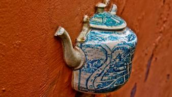 Vilnius orange pitcher tea vessel wallpaper