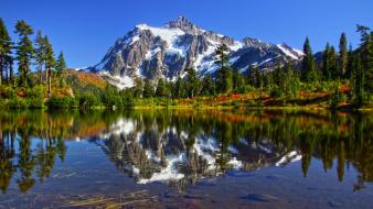 Washington state crystalline lakes landscapes mountains wallpaper