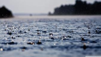 Water rain drops Wallpaper