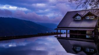 Water taiwan house evening sky wallpaper
