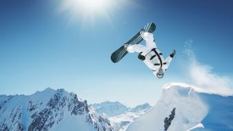 Winter extreme sports snowboarding sunshine village Wallpaper