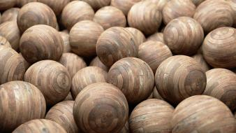 Abstract cgi spheres 3d render wood texture Wallpaper