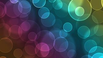 Abstract circles light rainbows Wallpaper