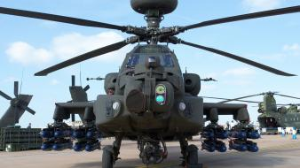 Agm-114 hellfire ah-64 apache helicopters photograph wallpaper