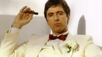 Al pacino gangster tony montana movie legends wallpaper