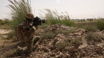 Army nato isaf helmand marksman sharpshooter taliban Wallpaper