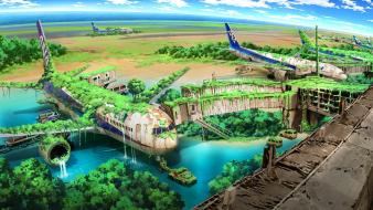 Art airports artwork abandoned flooded lost tokyogenso Wallpaper