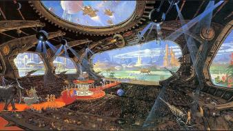 Artwork futuristic paintings science fiction wallpaper