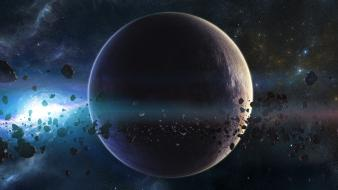 Asteroids outer space planets wallpaper