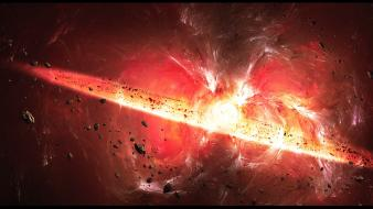 Big bang explosions outer space wallpaper