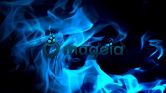 Blue fire mageia wallpaper