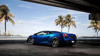 Blue lamborghini gallardo galardo Wallpaper
