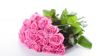 Bouquet flowers pink roses wallpaper