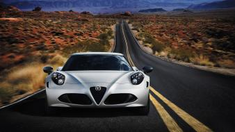 Cars alfa romeo roads 2014 4c wallpaper