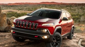 Cars jeep cherokee trailhawk front angle view wallpaper