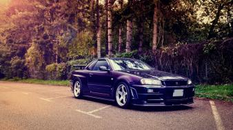 Cars nissan roads vehicles skyline r34 Wallpaper