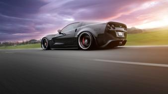 Cars vehicles corvette low-angle shot wallpaper