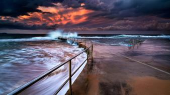 Clouds coast hdr photography skies sea wallpaper