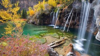 Colorado hanging lake rocky mountains autumn green wallpaper