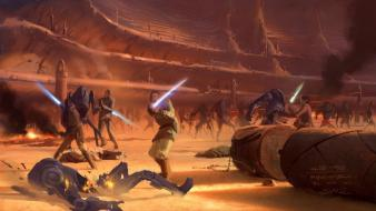 Concept art artwork arena obi-wan kenobi geonosis wallpaper