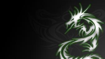 Dragons tribal wallpaper