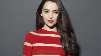 Emilia clarke theater diamond earrings striped top wallpaper