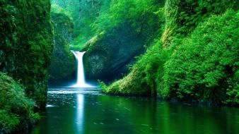 Forests hills oregon waterfalls rivers punch bowl wallpaper