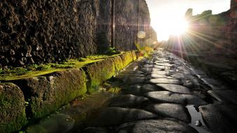 Italia italy pompei antique cobblestones wallpaper