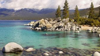 Lake tahoe lakes landscapes mountains nature Wallpaper