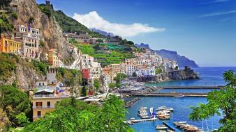 Landscapes positano Wallpaper