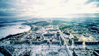 Landscapes winter cityscapes pripyat chernobyl abandoned city cities Wallpaper