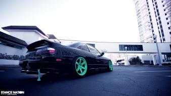 Low-angle shot jdm japanese domestic market drift wallpaper