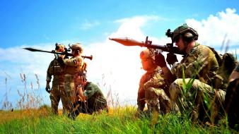 Military grass rpg outdoors infantry rocket launcher wallpaper