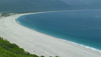 Ocean landscapes taiwan hualien beach Wallpaper