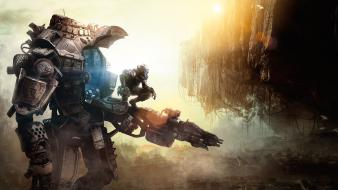 Paintings video games panoramic tf titanfall wallpaper